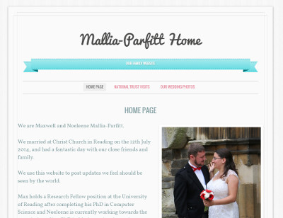 Mallia-Parfitt family website